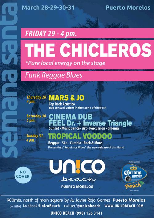 """"""" The Chicleros """" banda local- Semana Santa en Puerto Morelos"""