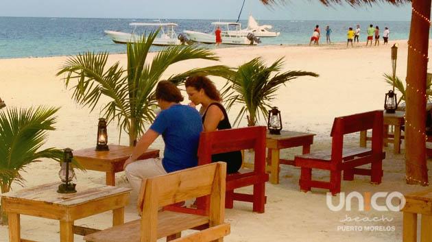 Unico beach en Puerto Morelos Qroo Mexico
